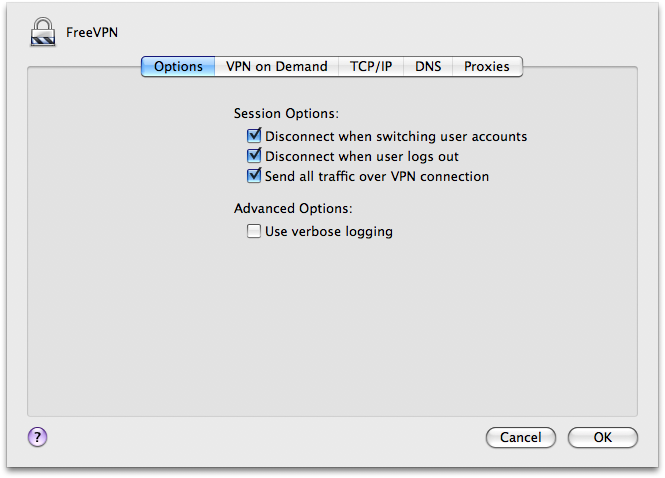 Configure PPTP VPN to Apple computer for secure web browsing experience